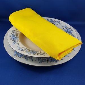 Sunshine Yellow 10 Piece Fabric Napkin Set